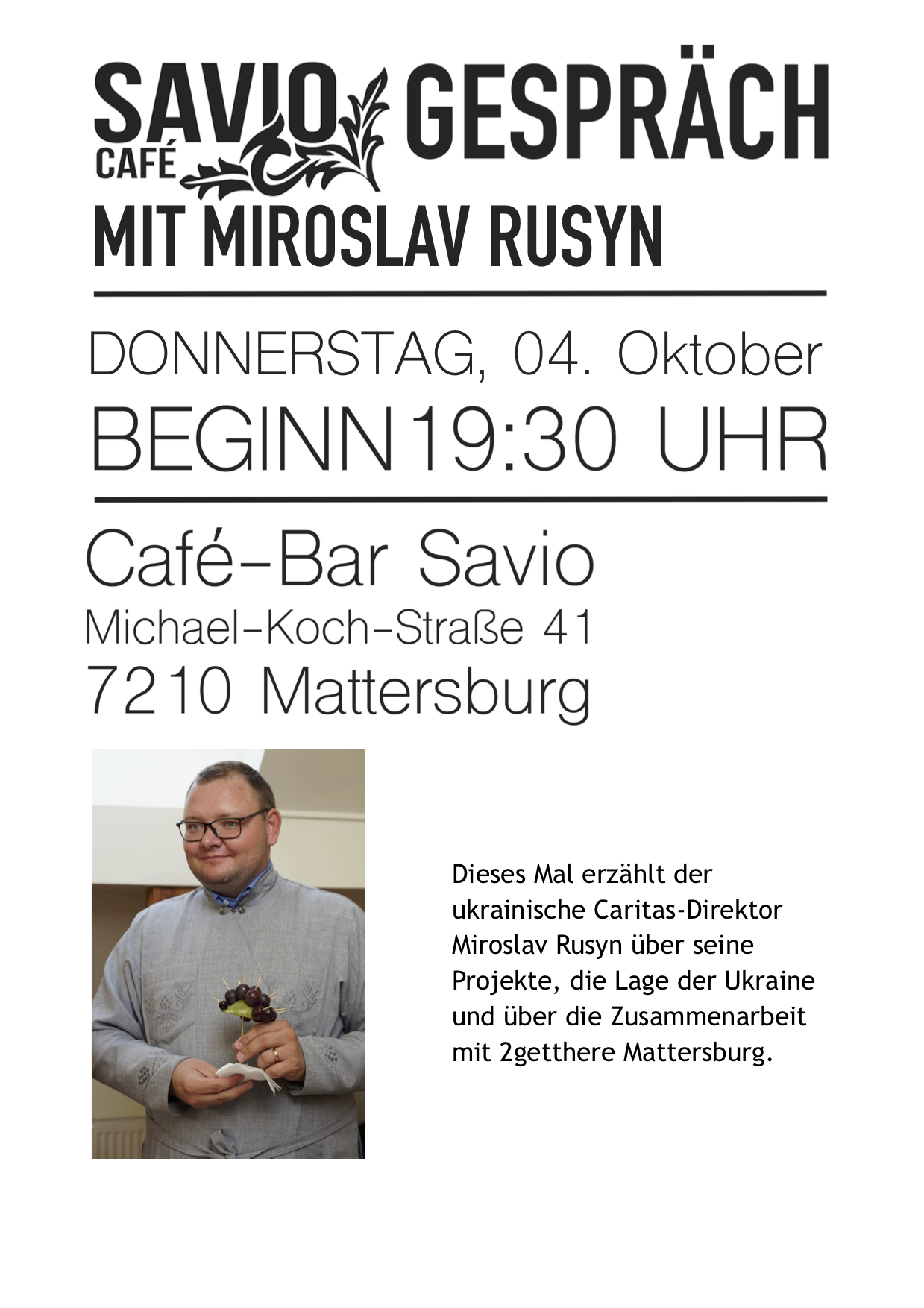 Savio Gespräch Miroslav